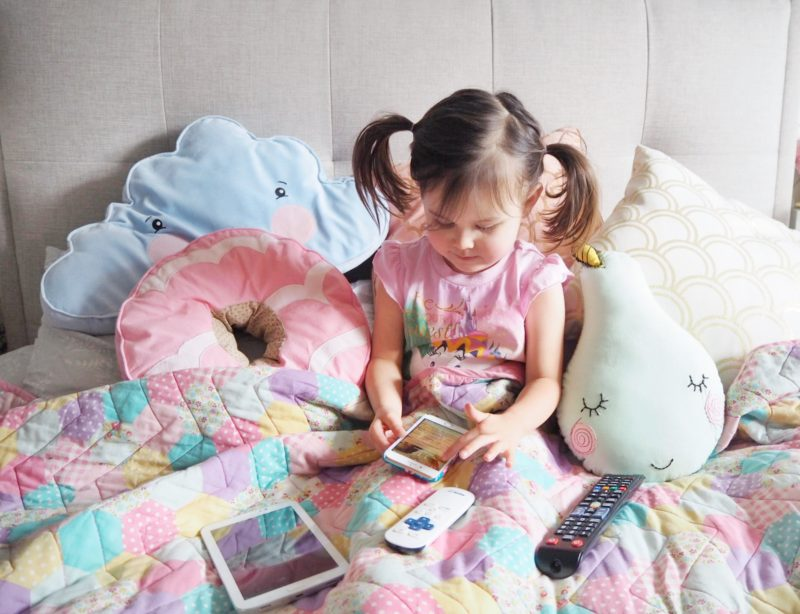 child screen time technology phone tablet remote tv parenting