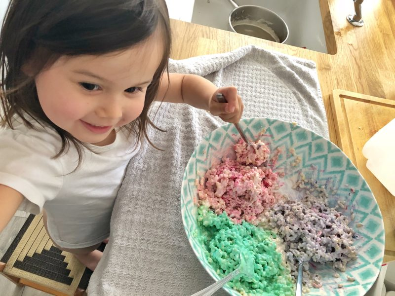 food colouring in cake mixture
