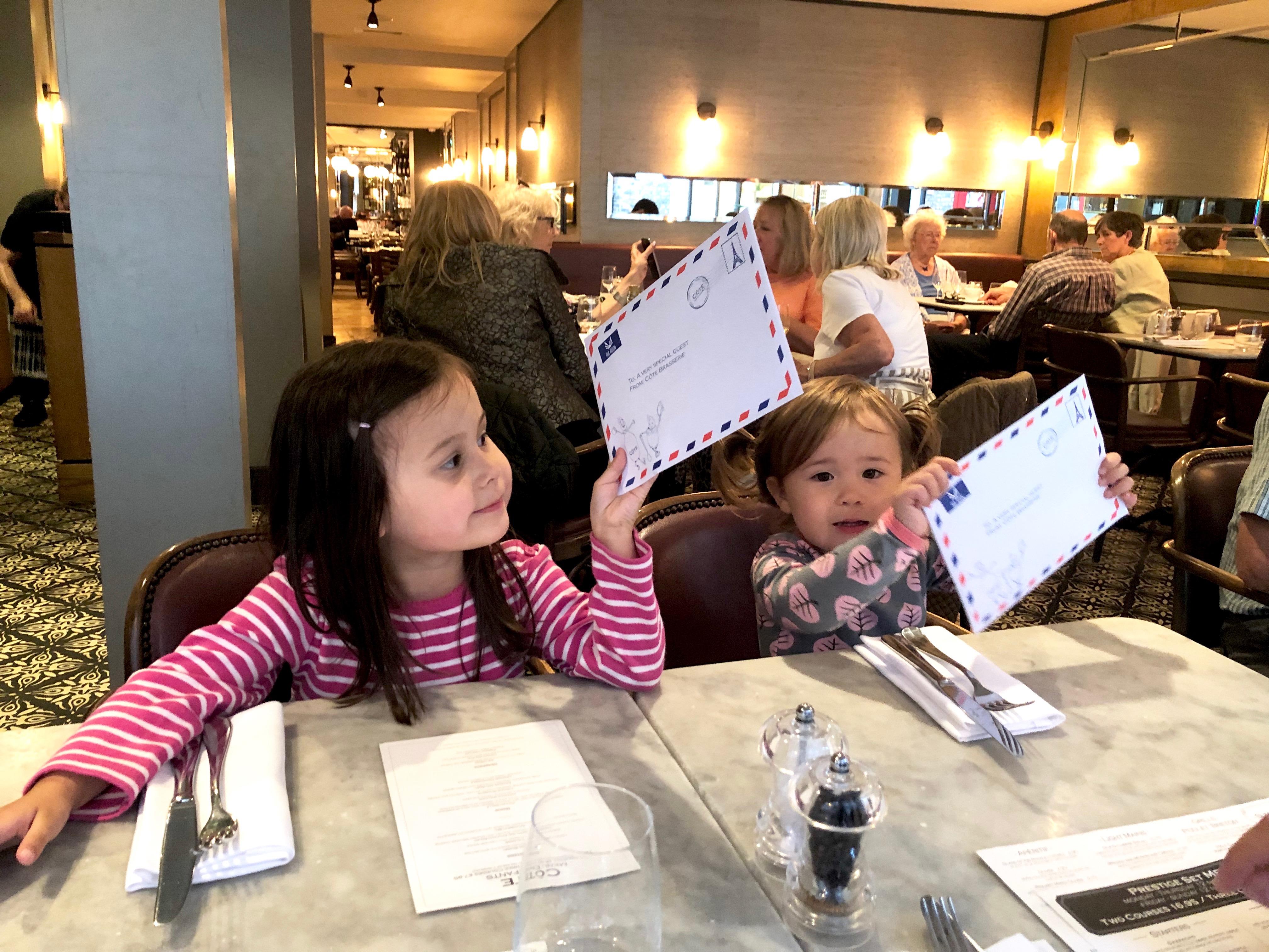 cote brasserie kids children activity packs