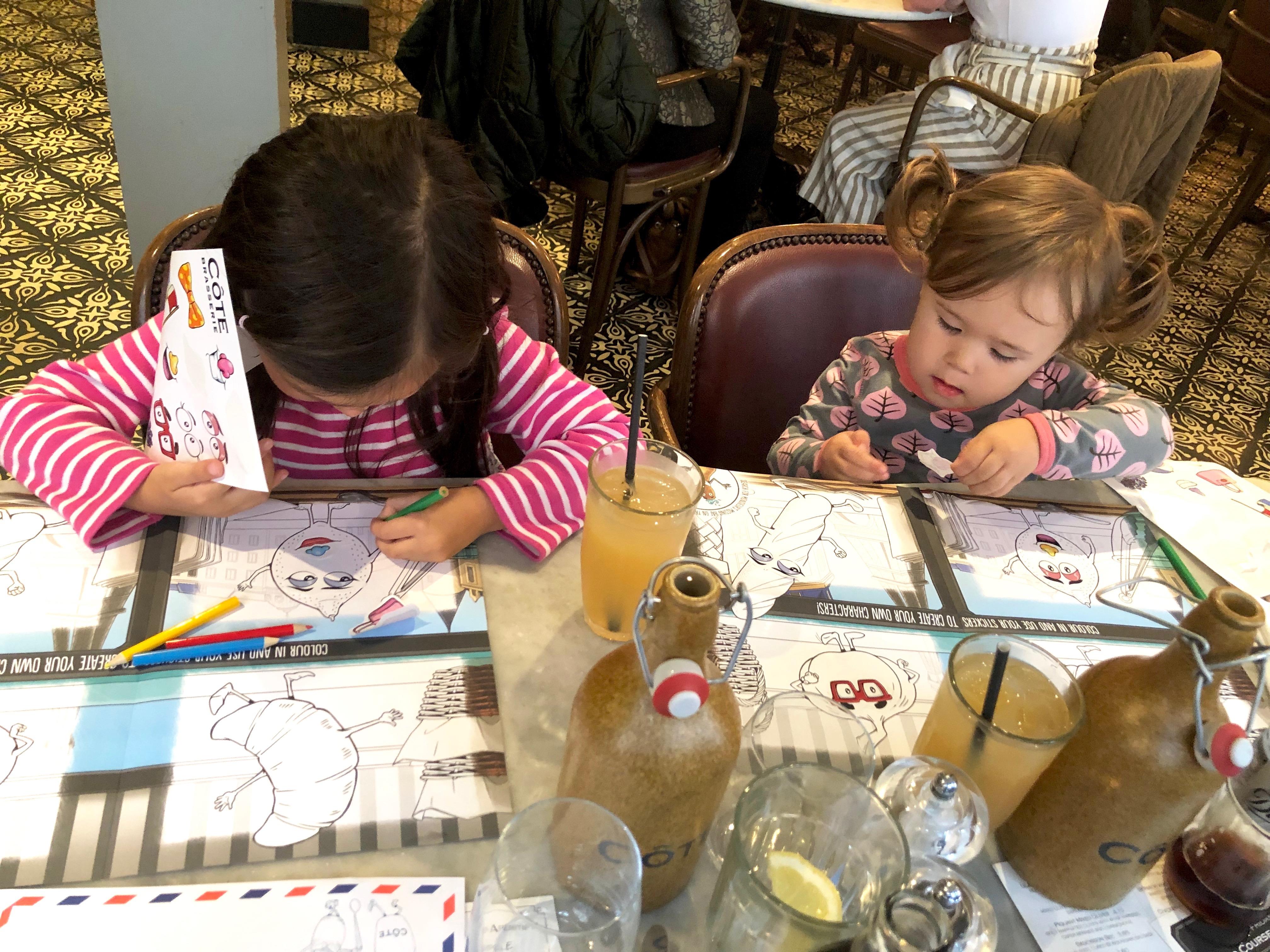 cote brasserie childrens menu